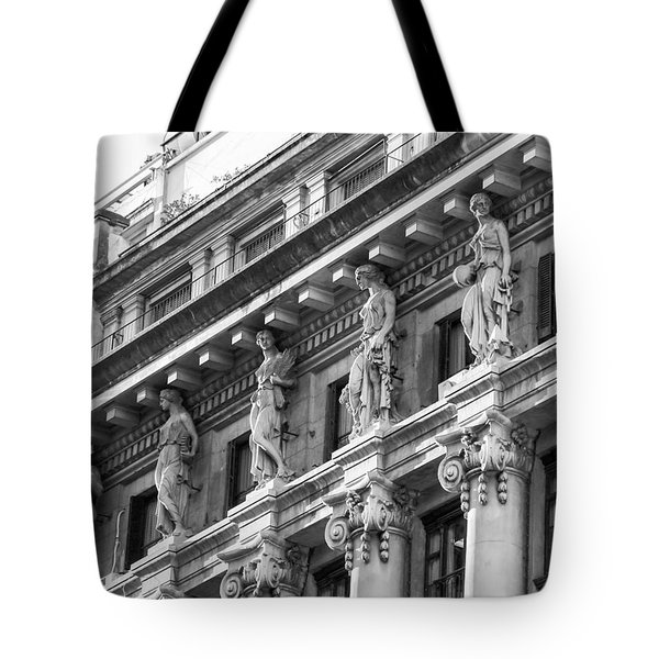 Tote Bag featuring the photograph Building by Silvia Bruno