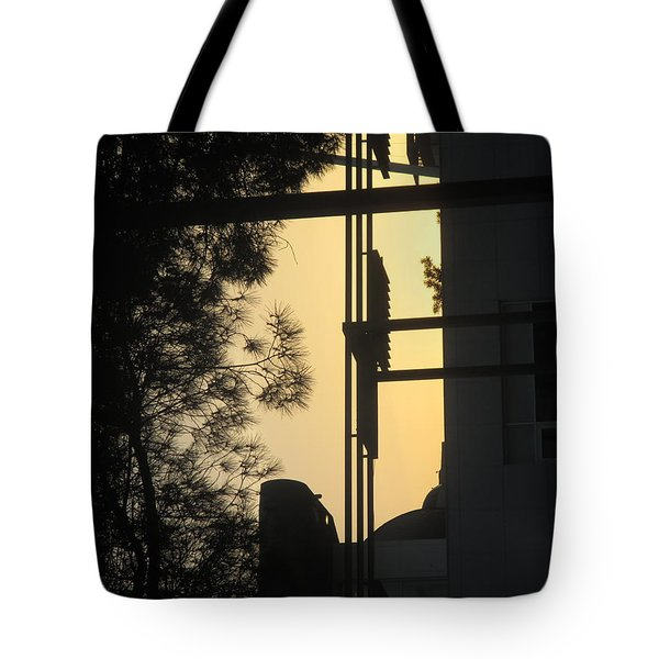 Building With Shadows In My Street N Lisbon Tote Bag