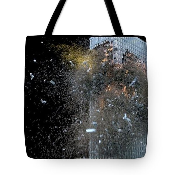 Building_explosion Tote Bag by Marcia Kelly