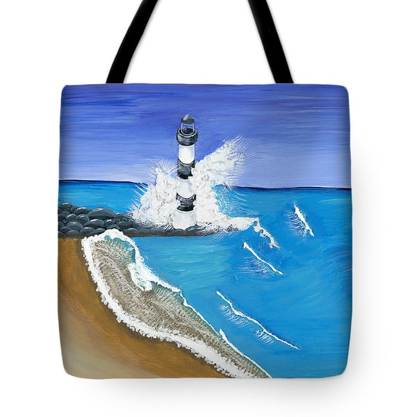 Built On Solid Rock Tote Bag