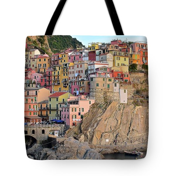 Tote Bag featuring the photograph Built On The Slope by Frozen in Time Fine Art Photography