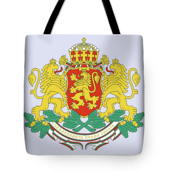 Tote Bag featuring the drawing Bulgaria Coat Of Arms by Movie Poster Prints