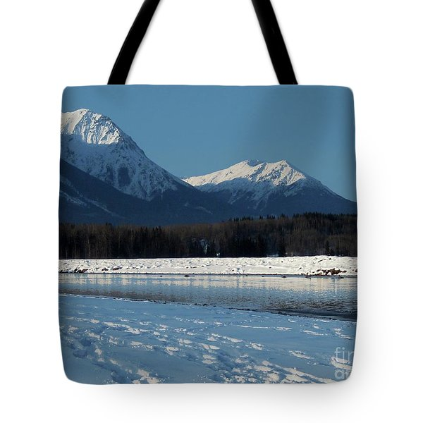 Bulkley River, With Hbm In Background Tote Bag