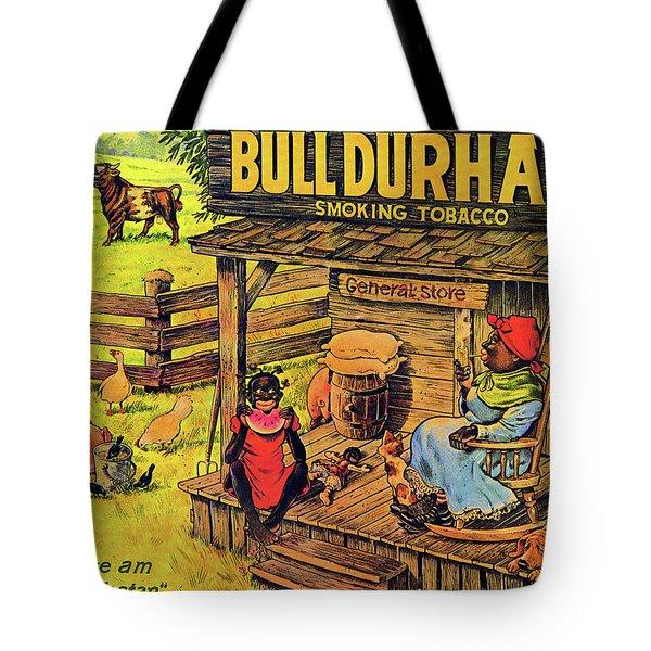 Tote Bag featuring the digital art Bull Durham My It Shure Am Sweet Tastan by ReInVintaged