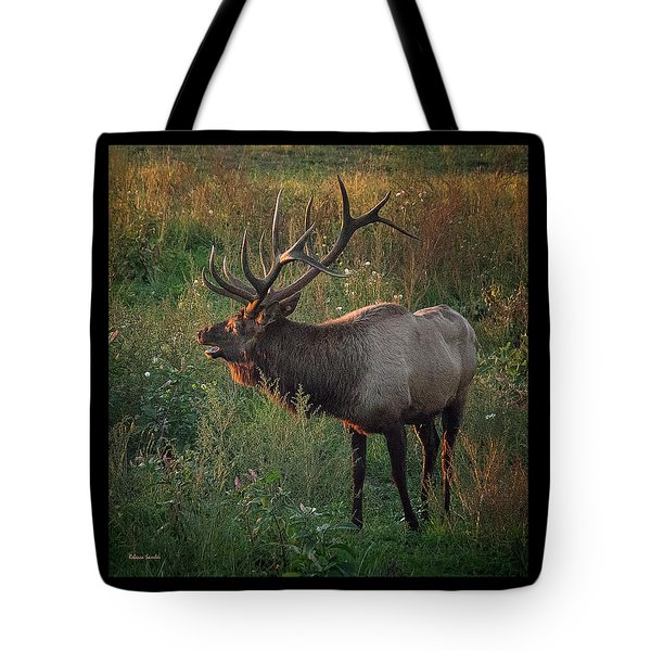 Bull Elk Tote Bag