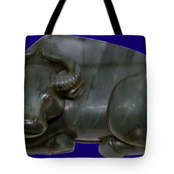 Bull Figure Tote Bag