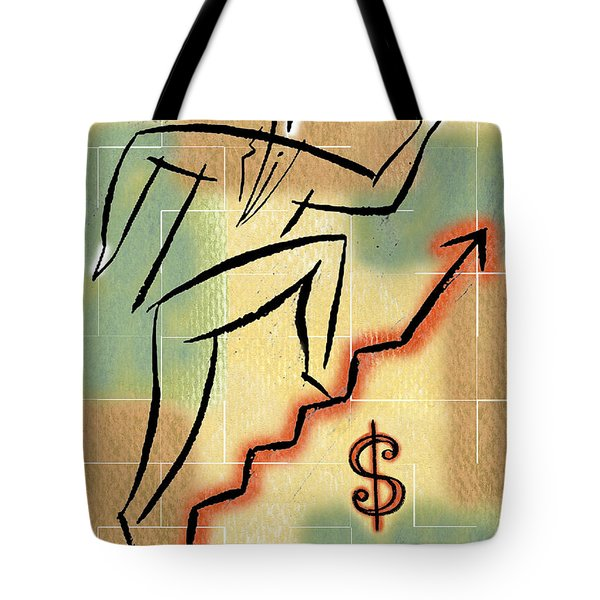 Tote Bag featuring the painting Bull Market by Leon Zernitsky