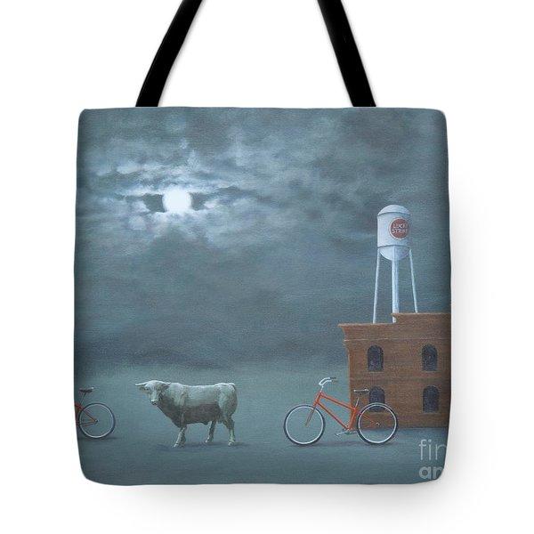 Bull Moon Ride Tote Bag