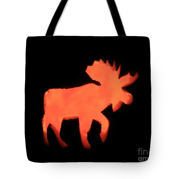 Bull Moose Pumpkin Tote Bag