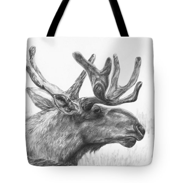 Bull Moose Study Tote Bag by Meagan  Visser