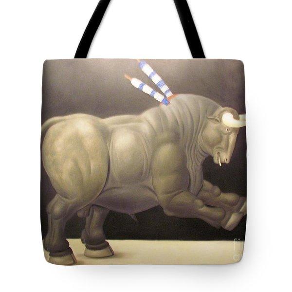 bull painting Botero Tote Bag
