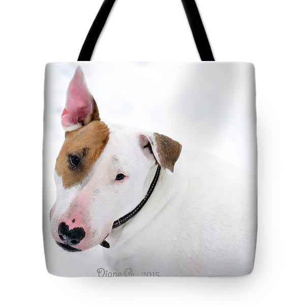 Bull Terrier Tote Bag by Diane Giurco