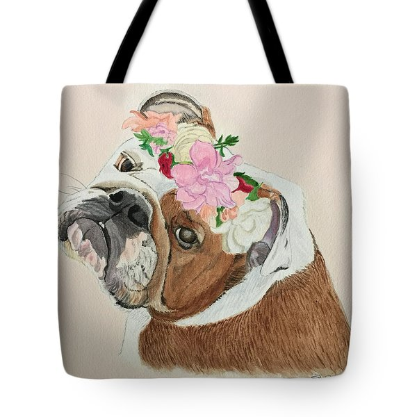 Bulldog Bridesmaid Tote Bag