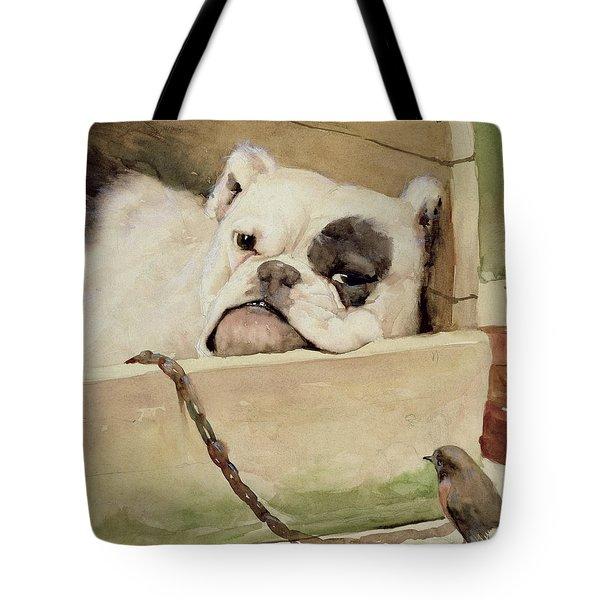 Bulldog Tote Bag by Cecil Charles Windsor Aldin