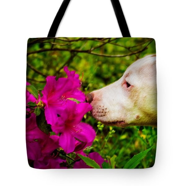 Bulldog Flowers Tote Bag