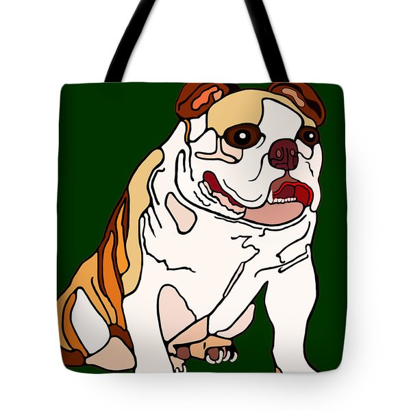 Bulldog Tote Bag by Marian Cates
