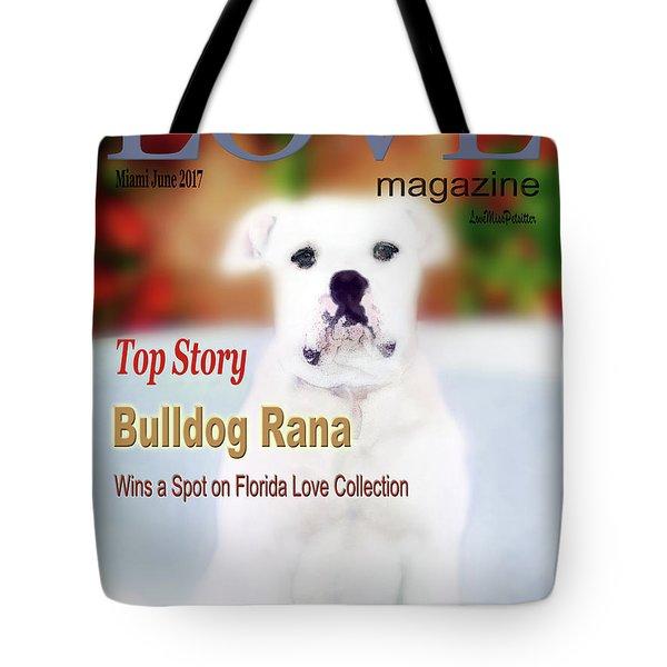 Bulldog Rana Poster 3 Tote Bag