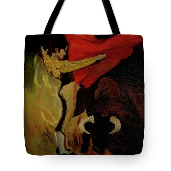 Bullfighter By Mary Krupa Tote Bag
