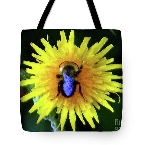 Bullseye Bumblebee Dandelion Tote Bag