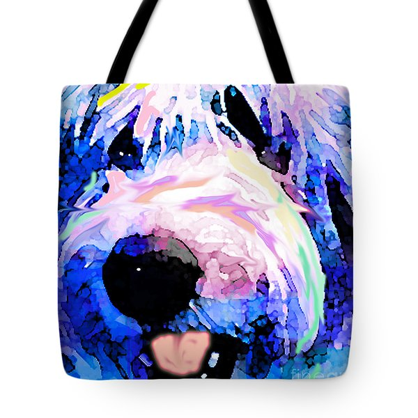 Bumble Bear Tote Bag by Alene Sirott-Cope
