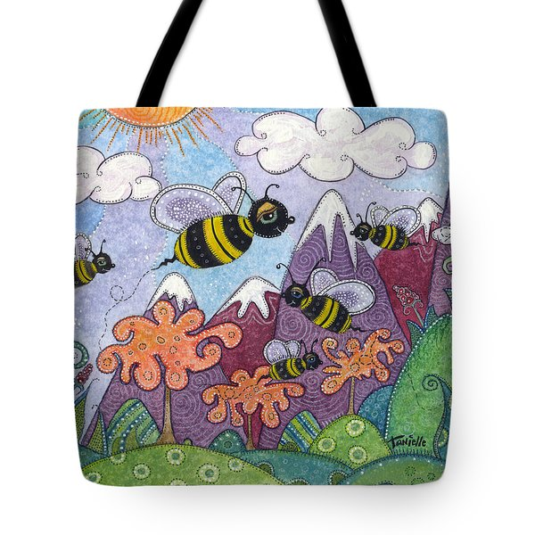 Bumble Bee Buzz Tote Bag by Tanielle Childers