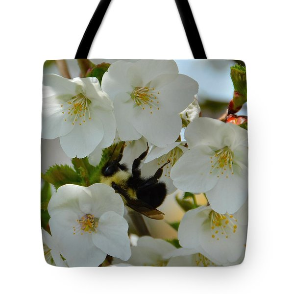 Bumble Bee In Hiding Tote Bag