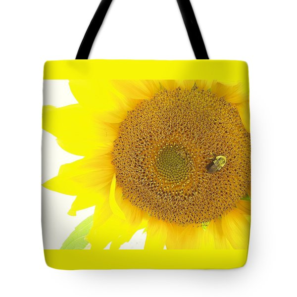 Bumble Bee Sunflower Tote Bag