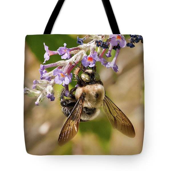 Bumble Bee Up Close And Personal Tote Bag