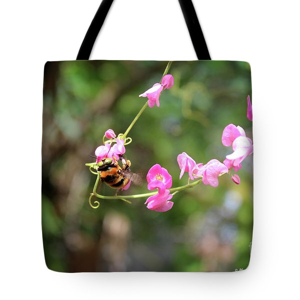 Tote Bag featuring the photograph Bumble Bee1 by Megan Dirsa-DuBois