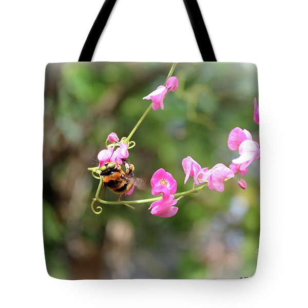 Tote Bag featuring the photograph Bumble Bee2 by Megan Dirsa-DuBois