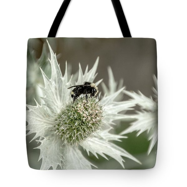 Bumblebee On Thistle Flower Tote Bag