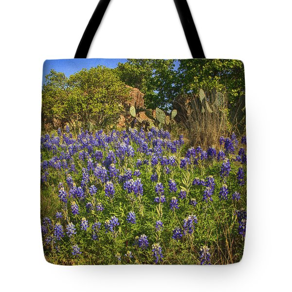 Bunch Of Bluebonnets Tote Bag