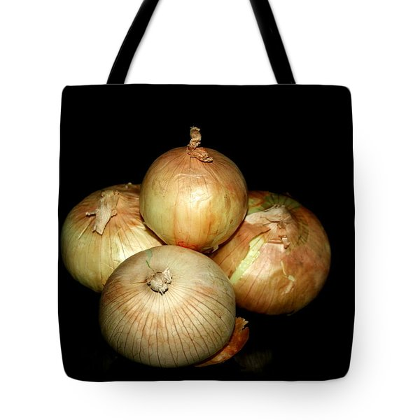 Bunch Of Onions Tote Bag by Cathy Harper