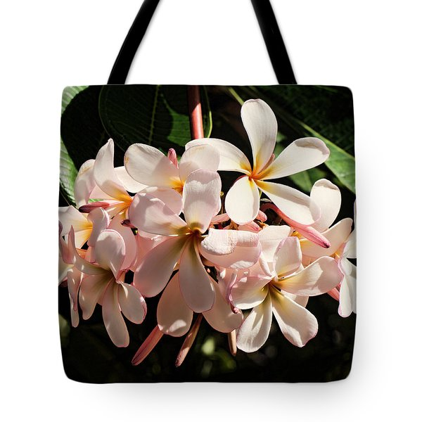 Bunch Of Plumeria Tote Bag by Pamela Walton