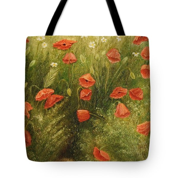 Bunch Of Poppies Tote Bag