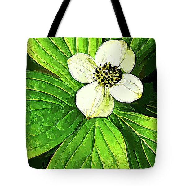 Bunchberry Blossom Tote Bag
