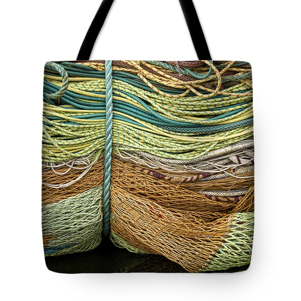 Bundle Of Fishing Nets And Ropes Tote Bag
