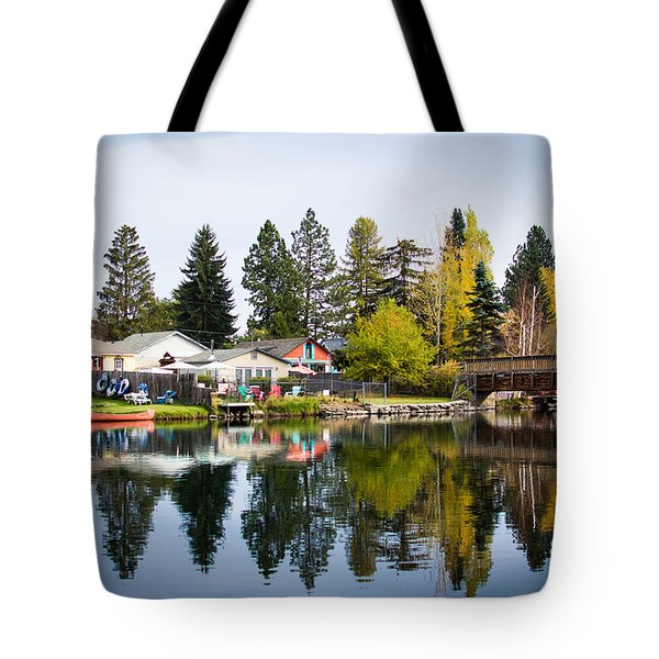 bungalows on the Deschutes Tote Bag