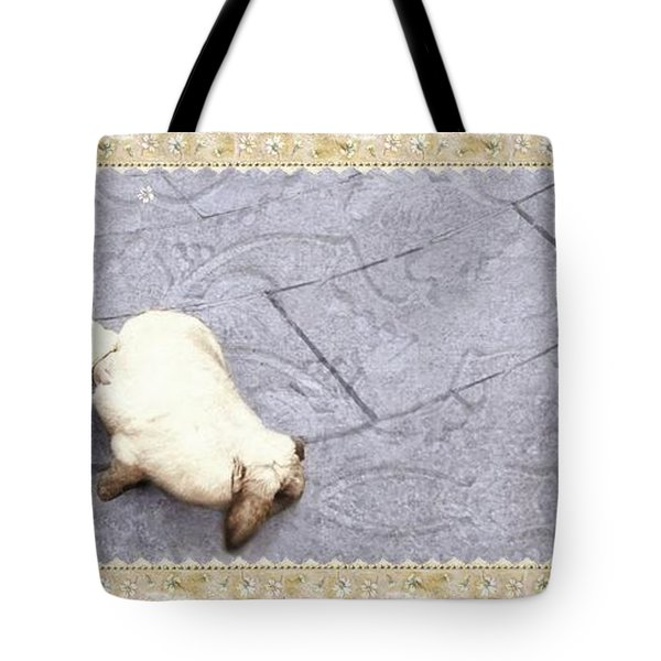 Baby Chases Bunny Tote Bag