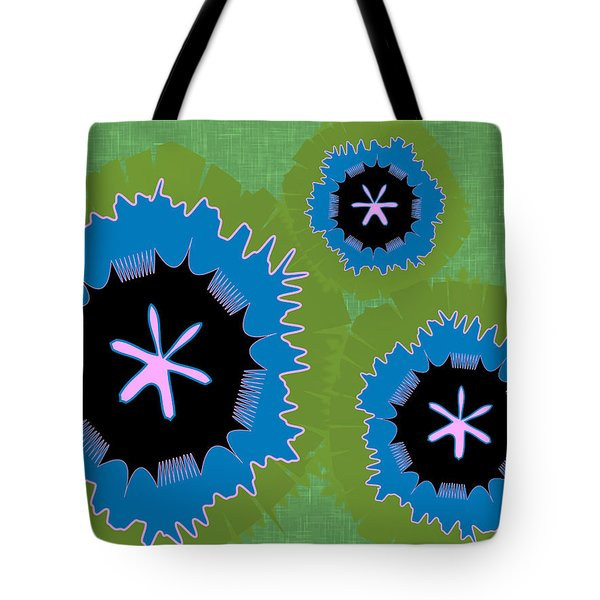 Tote Bag featuring the digital art Bunny Flower by Kevin McLaughlin