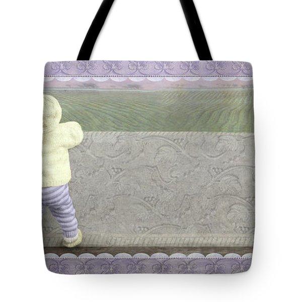 Bunny Hops Away Tote Bag