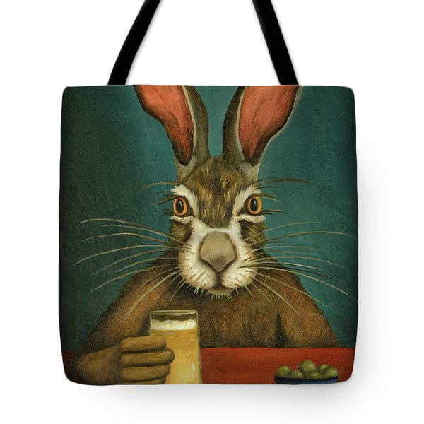 Bunny Hops Tote Bag by Leah Saulnier The Painting Maniac