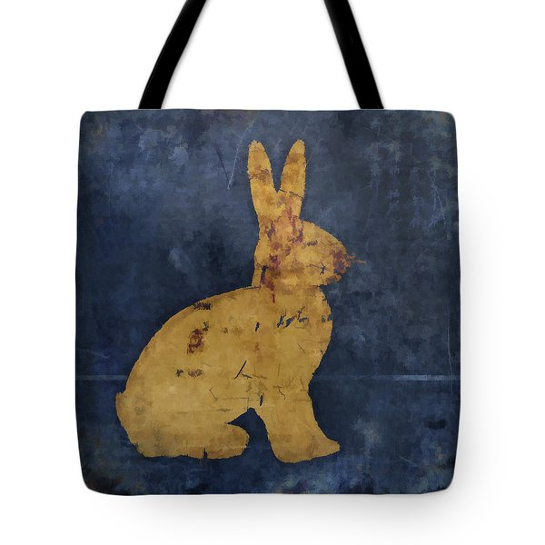 Bunny In Blue Tote Bag by Carol Leigh