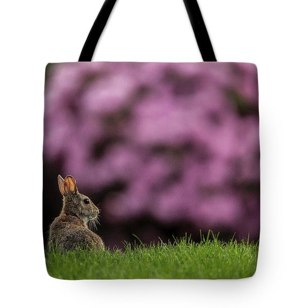 Bunny In The Yard Tote Bag