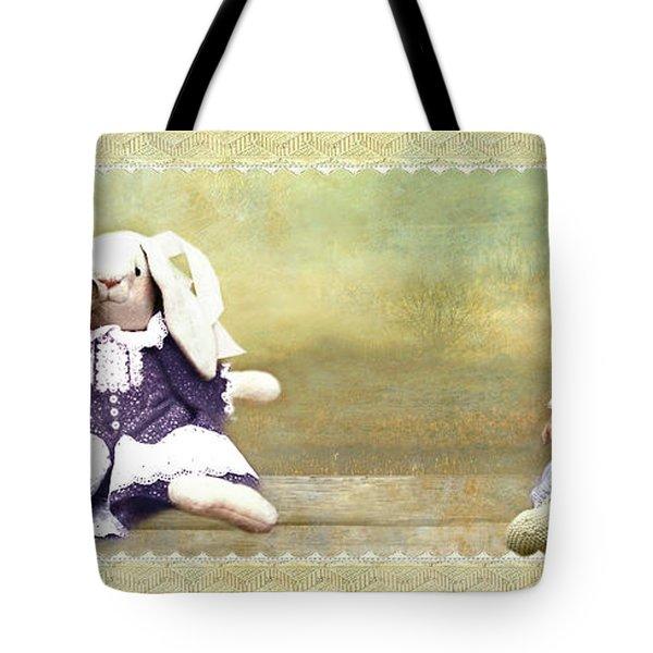 Bunny Kisses Doll Tote Bag