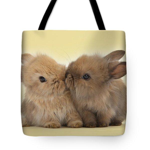 Bunny Kisses Tote Bag