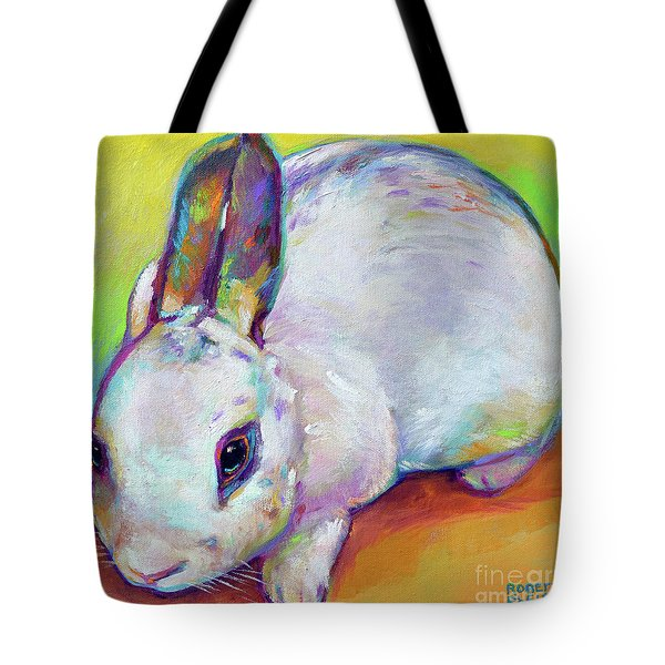 Tote Bag featuring the painting Bunny by Robert Phelps