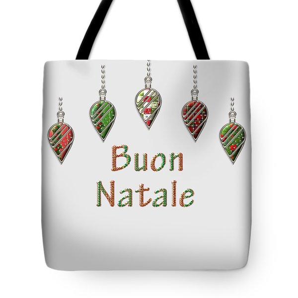 Buon Natale Italian Merry Christmas Tote Bag