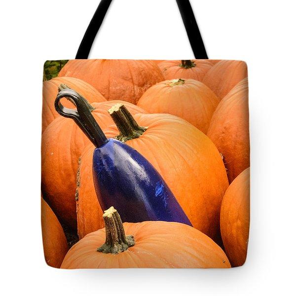 Buoy And Pumpkins Tote Bag