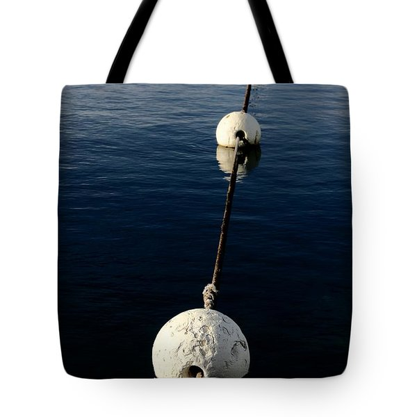 Tote Bag featuring the photograph Buoy Descending by Stephen Mitchell